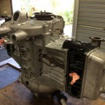 Jowett engine nearing completion during a rebuild