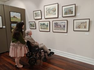Megan Kelly and Grandfather viewing his paintings June 2020 report